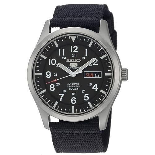 f18fe18cf Seiko Men's SNZG15 Seiko 5 Automatic Stainless Steel Watch with Nylon Strap