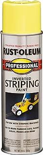 Rust-Oleum 2548838 Professional Stripe Inverted Striping Spray Paint, 18 oz, Yellow