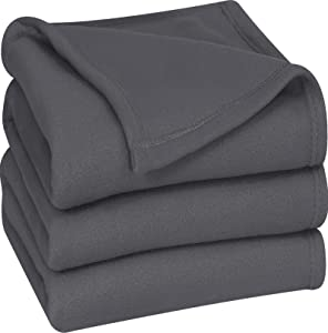 Utopia Bedding Fleece Blanket Queen Size Grey Soft Warm Bed Blanket Plush Blanket Microfiber