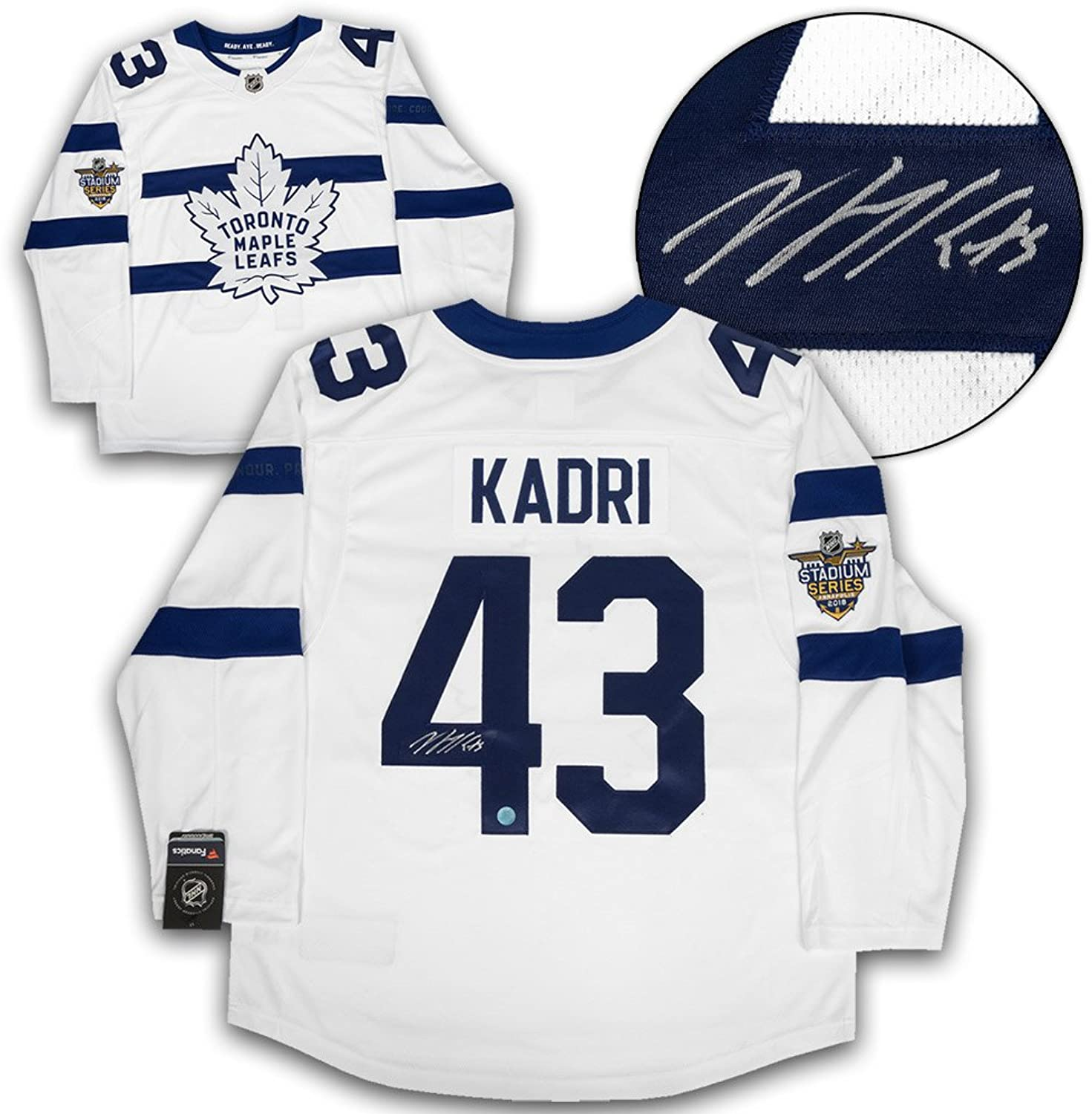 Nazem Kadri Tgoldnto Maple Leafs Signed 2018 Stadium Fanatics Hockey Jersey