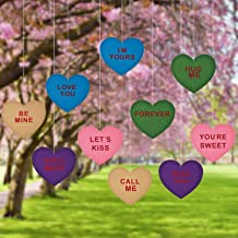 TOODOO 10 Pieces Large Valentine's Lawn Decorations 12 Inch Hanging Love Ornaments Valentine's Day Party Decorations for Valentines Wedding Party
