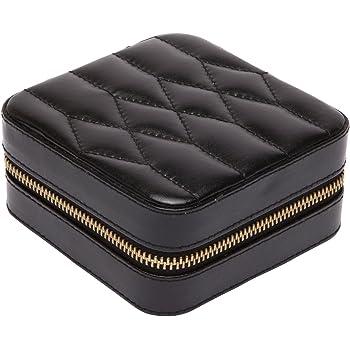 WOLF 329971 Caroline Zip Travel Case, 4.5x4.5x2.5, Black