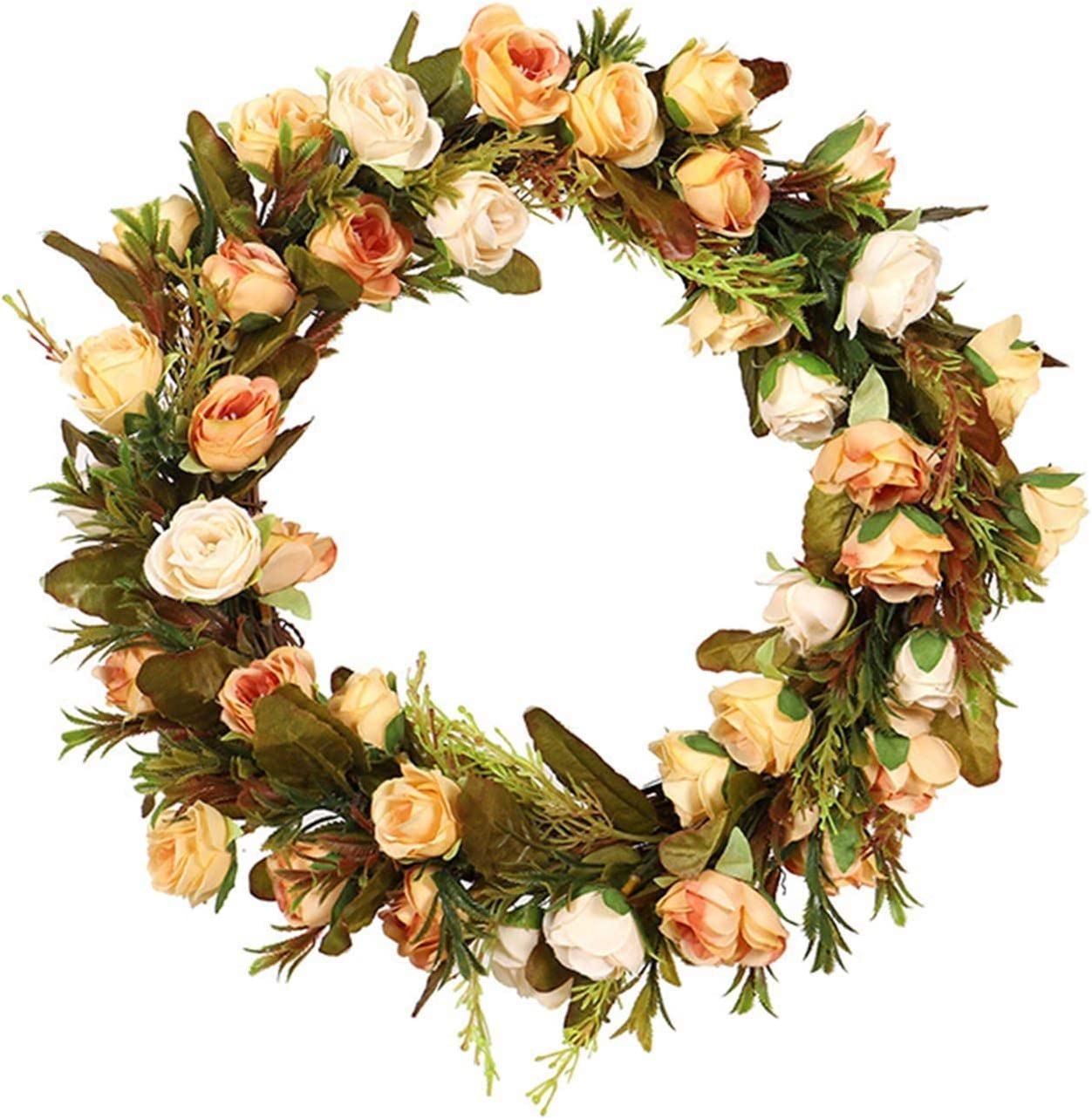 Spring Flower Wreath for Front Columbus Mall Hangi Wall National uniform free shipping Door Peony Rose