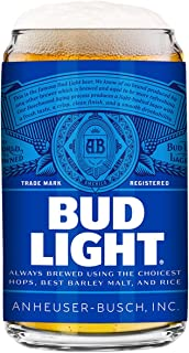 Bud Light 2-Pack Can Beer Glass, 16oz
