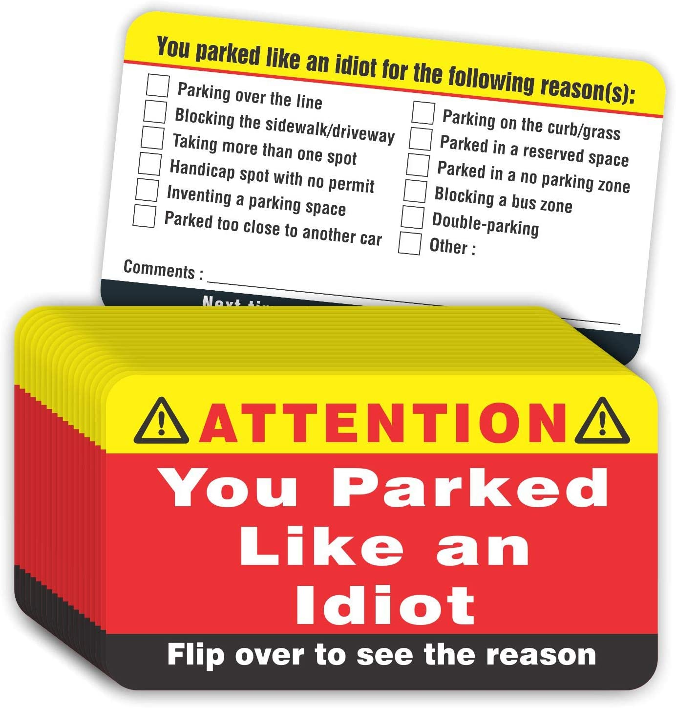 PARTH iMPEX You Parked Like Max 72% OFF an Pack Cards 100 Idiot of Popular standard Business