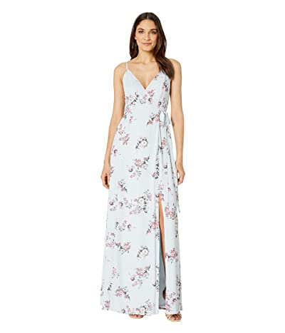 WAYF Angelina Gown (Dusty Blue Floral) Women