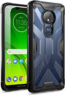 Moto G7 Power Case, Moto G7 Supra Case, Moto G7 Optimo Maxx Case, Poetic Rugged Protective Bumper Cover, Military Grade Drop Tested, Affinity Series, DO NOT FIT Moto G7/ G7 Play, Frost Clear/Black