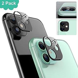 Ossky Protector de Lente de cámara para iPhone 11Cámara Trasera Lente Protector Anti-Rasguños/Anti-Polvo[Compatible para Funda] Protector Cámara Trasera Case para iPhone 11-Negro/2 Pack