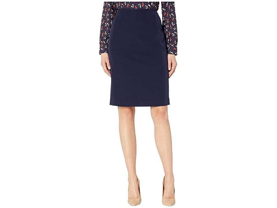 Tahari by ASL Pencil Skirt (Navy) Women
