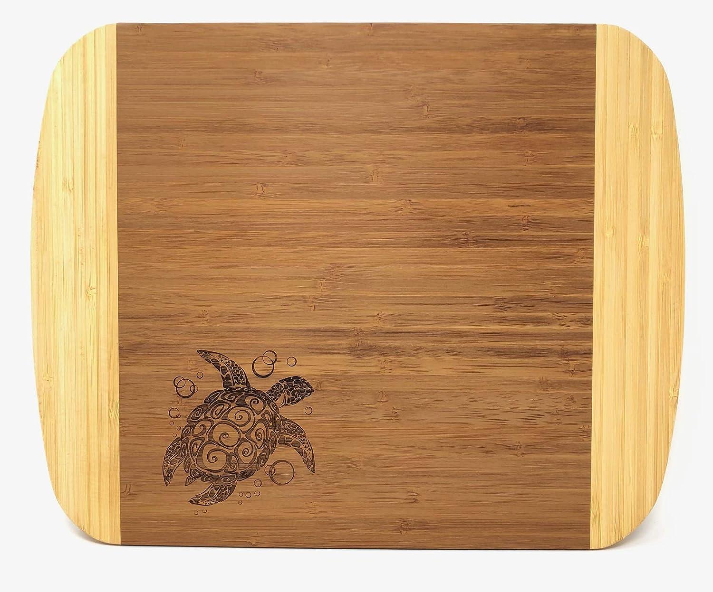 Phoenix Mall All Things Sea Turtles 25% OFF Two-Tone Cutting Board Bamboo Turtle