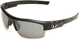نظارات شمسية إغنيتر من أندر أرمور مع عدسات سوداء/رمادية، مقاس واحد