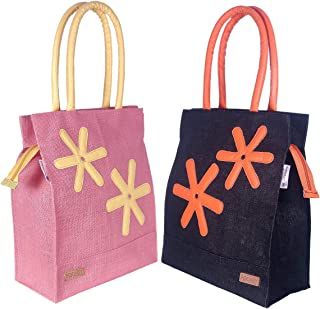Foonty Exclusive Star Daily Use Jute Lunch Bags(Pack of 2,Multicolor,FFFWB6013E)