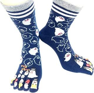 Women Toe Socks Funky Finger Socks Cute Cartoon Cotton Socks