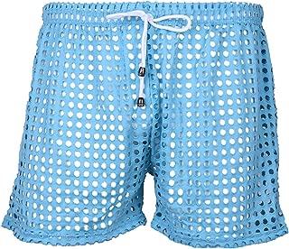 YiZYiF Mens Hollow Openwork Drawstring Lounge Underwear Boxer Shorts