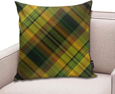 QianruB-No. 1 Funda de cojín con diseño de Cuadros Escoceses ...
