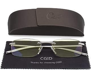 Unisex Lightweight Rimless Frameless Rectangle Reading Glasses Mens Womens Spring Hinge Fashion Readers Reading Glasses +1.50