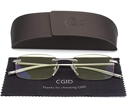 d94aedbb4038 Unisex Lightweight Rimless Frameless Rectangle Reading Glasses Mens Womens  Spring Hinge Fashion Readers Reading Glasses +