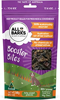ALL BARKS Booster Bites 130g - 100% Aussie Beef - Natural Australian Dog Treats - Snacks, Training or Rewards