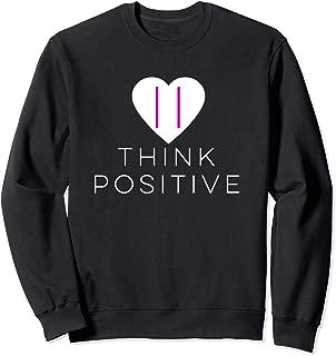 Think Positive - Heart Positive Pregnancy Test Sweatshirt