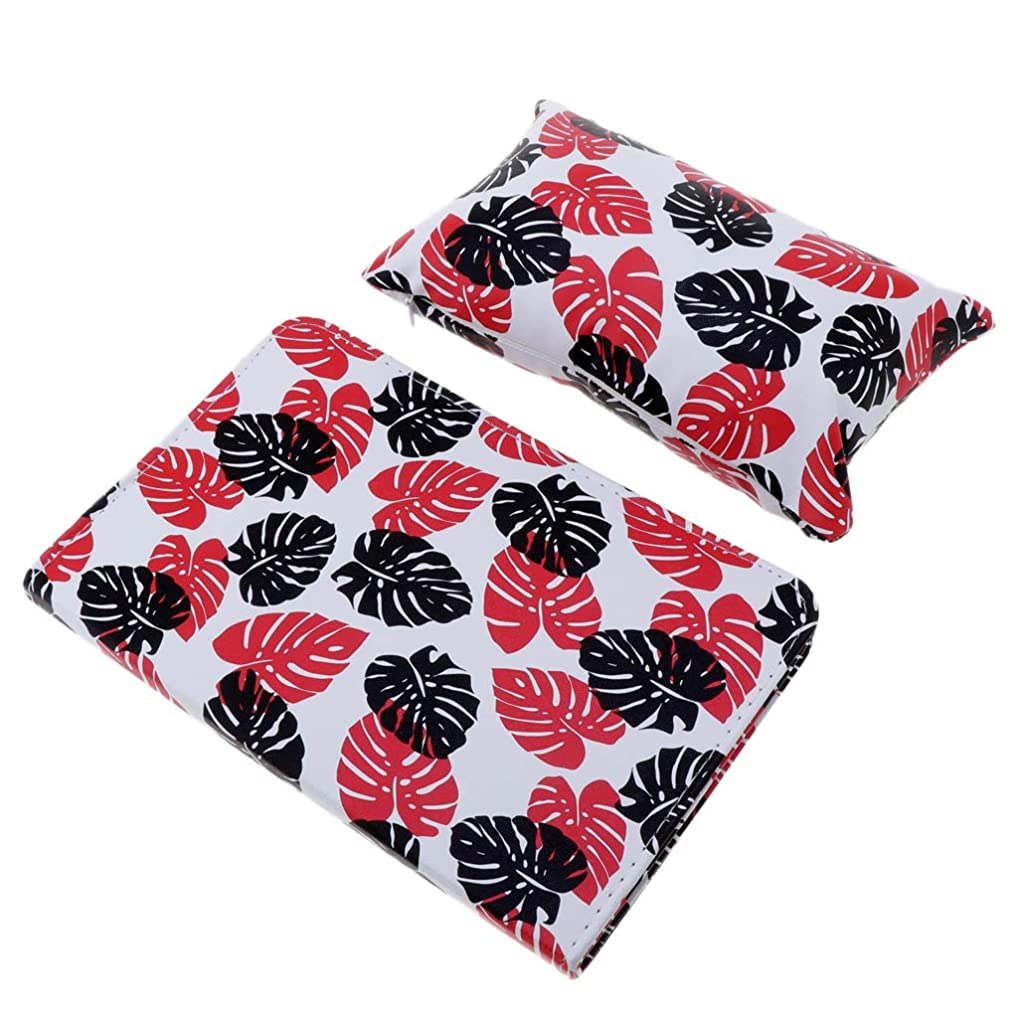 狂信者スロープ裁定CUTICATE ハンドクッション枕 ネイルアート ネイルクッション枕 マニキュアテーブルマット 折り畳み 全3色 - 赤