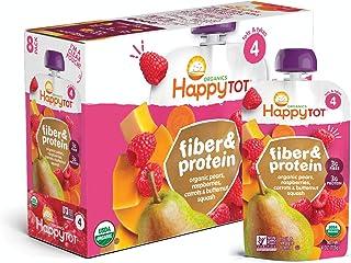 مبارک فیبر و پروتئین کیسه ای مرحله 4 گلابی تمشک پروانه کدو حلوایی و هویج ، 4 کیسه اونس (بسته 16) (بسته بندی ممکن است متفاوت باشد) ظروف سرباز یا مسافر رایگان خود تغذیه آلی w / اضافه شده پروتئین و فیبر