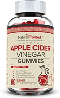 Premium Apple Cider Vinegar Gummies - Non-GMO, Gluten Free, Vegan, Organic ACV with