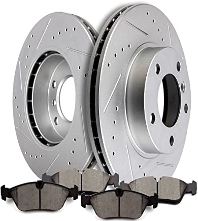 OE Series Rotors + Metallic Pads Max Brakes Rear Premium Brake Kit Fits: 2004 04 Volvo S40 2.4L Models w/ 5Lug Wheels TA092142