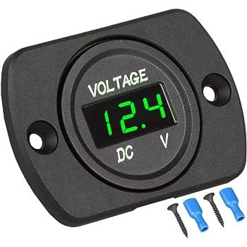 DC12V Auto Motorrad Boots Digital LED Panel Spannungsanzeige Voltmeter Meter