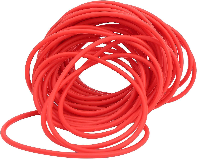 DAUERHAFT Color Brillante del Tubo de Goma del l/átex Rojo del art/ículo 10M Usado para la Pesca al Aire Libre