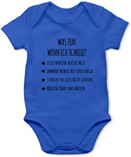 Shirtracer Schreianleitung, was tun wenn ich Schreie - Baby Body Kurzarm für Jungen und Mädchen