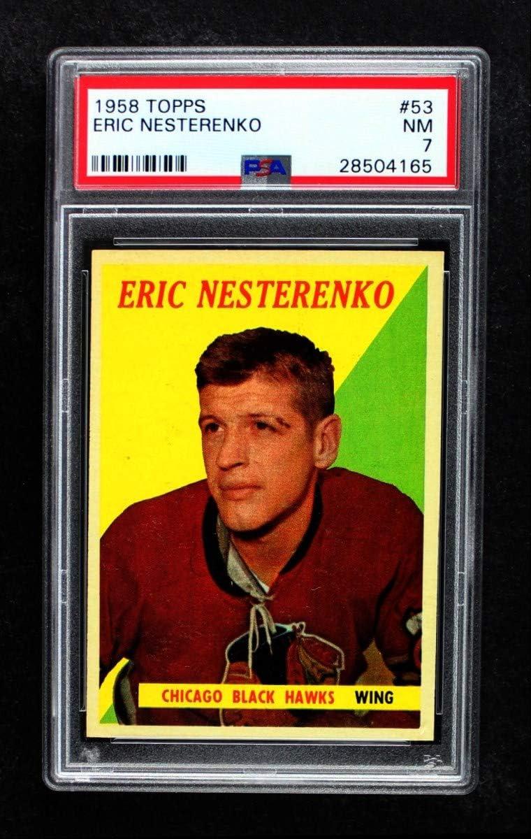 1958 Topps Limited price sale # 53 Eric Nesterenko Chicago shopping Card Blackhawks Hockey