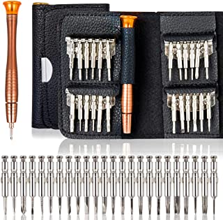25 in 1 Screwdriver Set, BetyBedy Precision Screwdriver Repair Tool Kits with Black Leather Bag for PC, Eyeglasses, Mobile Phone, Watch, Digital Camera and Other Appliances
