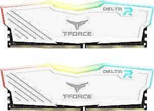 TEAMGROUP T-Force Delta RGB DDR4 16GB (2x8GB) 3200MHz (PC4-25600) CL16 Desktop Memory Module ram...