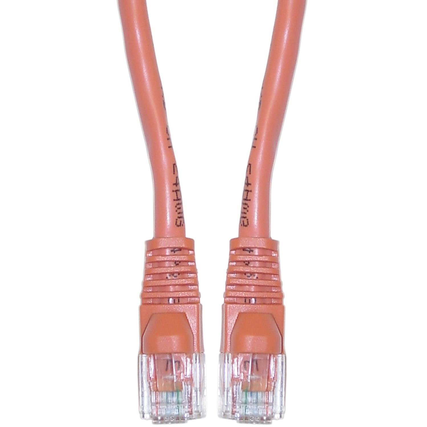 GadKo Cat5e Orange Ethernet Crossover Cable, Round, Snagless/Molded Boot, 5 foot
