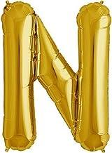 "The golden store 16"" Alphabet Letter Shape Golden foil Balloon (N Letter) for Kids Party Decorations"