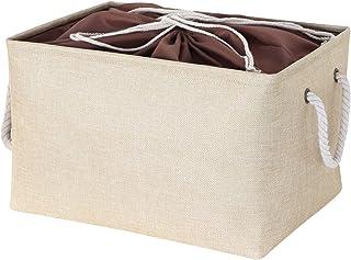 ZQCM Boîte De Rangement Simple en Coton Et Lin, Boîte De Rangement pour Vêtements en Tissu, Boîte De Panier De Rangement p...