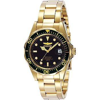 Invicta Men's Pro Diver 37.5mm Gold Tone Stainless Steel Quartz Watch, Gold/Black (Model: 8936)