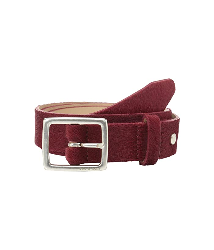 rag & bone Boyfriend Belt (Biking Red Haircalf) Women