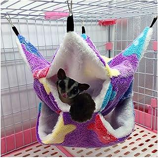 Yu-Xiang 3 Layer Hamster Hammock Love Starfish Pattern Small Pets Cotton Nest Rat Habitat Cage Hanging Squirrel Sleeping B...