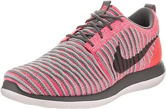 Nike Kids Roshe Two Flyknit (GS) Hot Punch/Dark Grey Wolf Grey Running Shoe 7 Kids US
