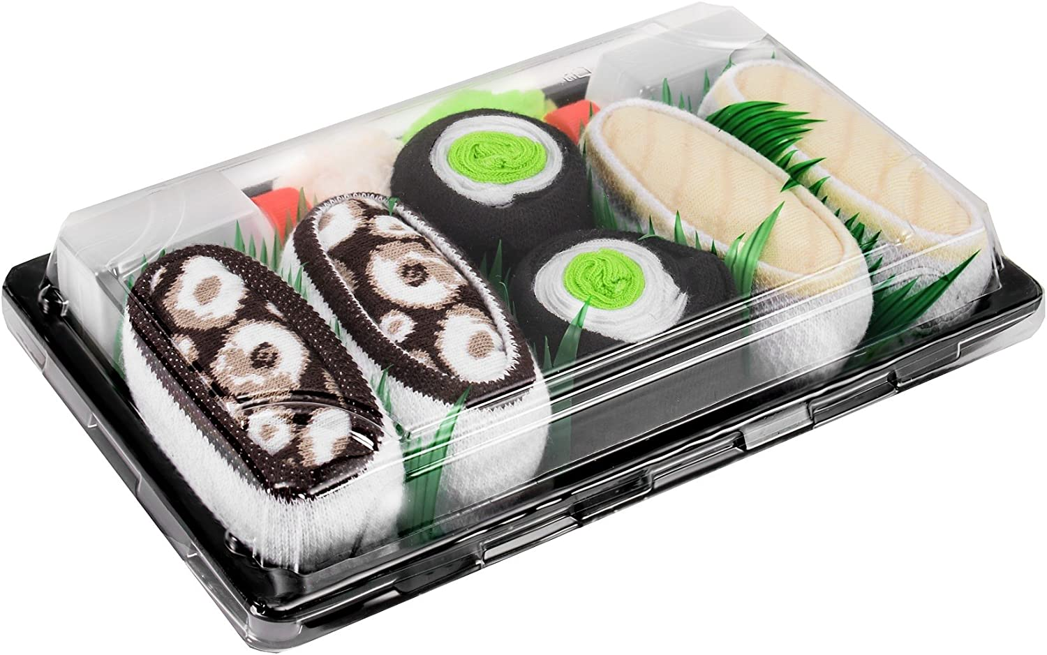 SUSHI SOCKS BOX 3 pairs Butterfish Cucumber Octopus FUNNY GIFT  Made in Europe