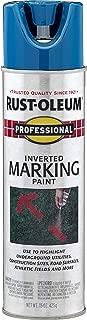 Rust-Oleum 2524838 Professional Inverted Marking Spray Paint, 15 oz, Caution Blue