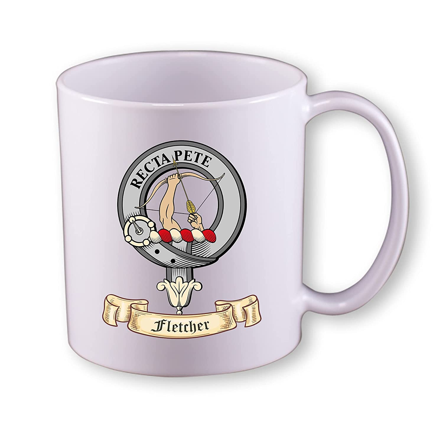 Scottish clan Fletcher- 11 oz coffee mug 2021new shipping free with cr Popular shop is the lowest price challenge tartan and