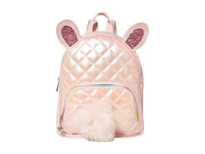 OMG! Accessories Metallic Quilted Bunny Mini Backpack (Pink) Backpack Bags