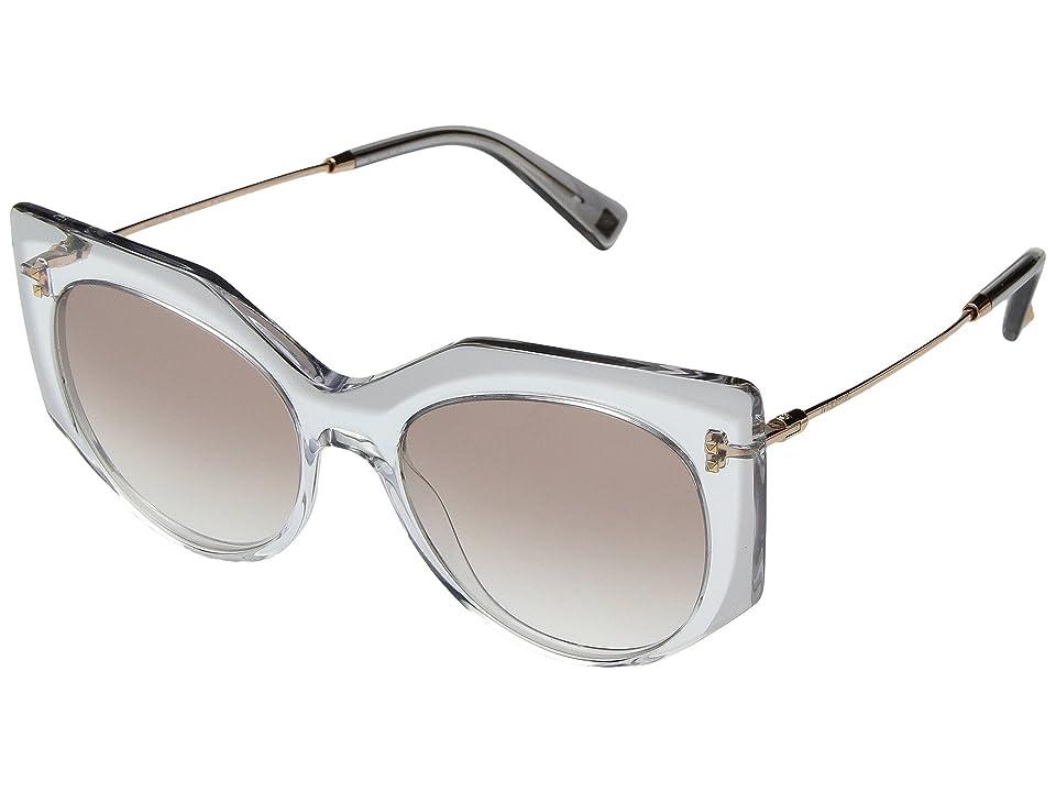 Valentino 0VA4033 (Crystal/Rose Gold/Light Brown Gradient) Fashion Sunglasses