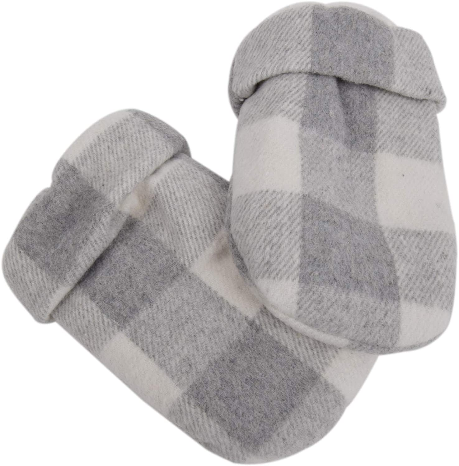 Gireshome Cabin C0zy White and Black Buffalo Check Lined with Sherpa Mitts