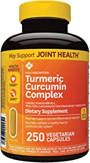 Member's Mark 500mg Turmeric Curcumin Complex Dietary Supplement (250 ct.) (Pack of 6)