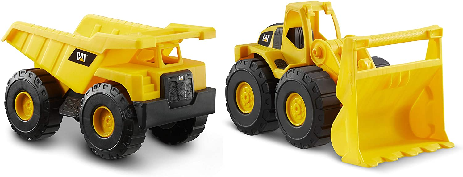 CatToysOfficial Toy Construction Vehicle 2 Pack, Yellow: Toys & Games