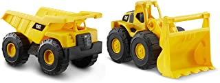 Funrise Catterpillar Construction Fleet Free Wheel 10 Inches 2 Pack, 82046, yellow/black, 82361