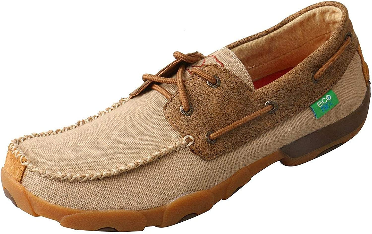 Twisted X Men's Boat Moccasin shoes Moc Toe